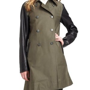 Jackets & Blazers - Elizabeth and James Hanneli Trench Leather Sleeves